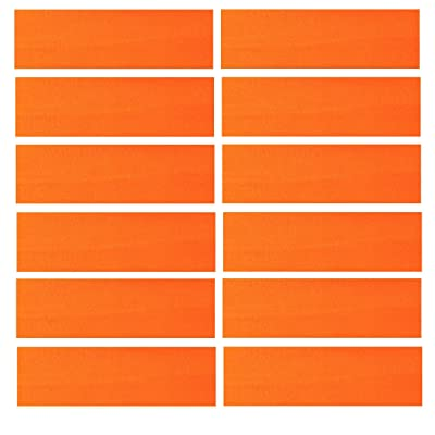 "3"" Wide Cotton Headbands Pack Stretch Elastic Yoga Soft and Stretchy Sports Sweatbands Fashion Headband for Teens Women Girls Men by Kenz Laurenz (12 pc Headbands, Orange)"