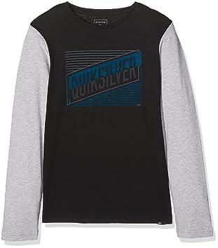 Quiksilver LS Colorblock YTH Port Roca Camiseta de Manga Larga, niños, Negro (Anthracite