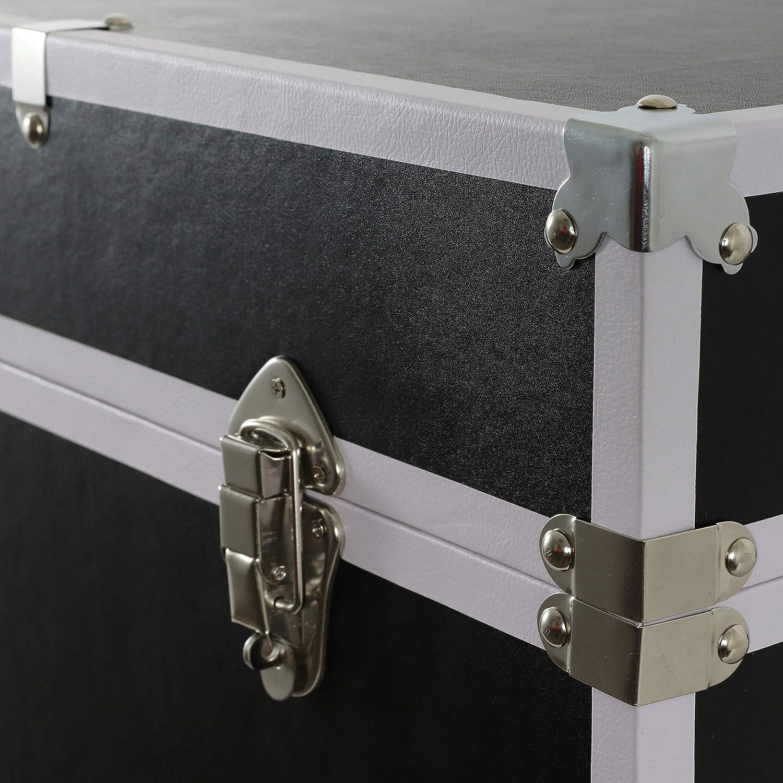 Black Chrome D/écor Therapy Warwick Storage Trunk
