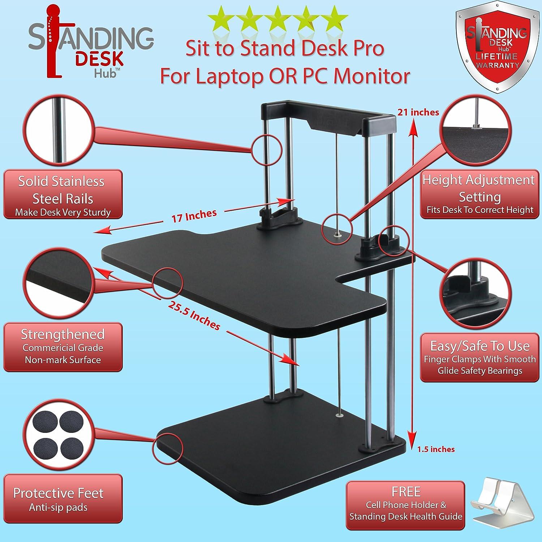 Sit Stand Desk Converter Pro Posture Sit Stand Desk