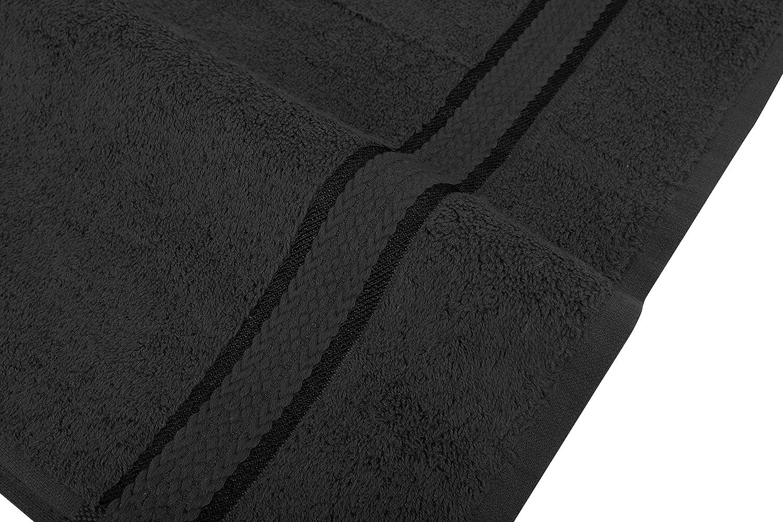 Sweet ago Sweetneedle Super Morbido 580/g//mq Nero Bath Sheet 100/% Cotone Ringspun e Assorbente con Finiture in Rayon 2 Pack di Lusso 100/% Cotone