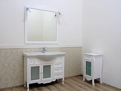 Le chic mobile da bagno bianco opaco provenzale shabby