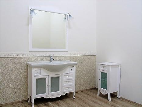 Le Chic Mueble de baño 105 Blanco Mate provenzal Shabby Mueble para Toallas