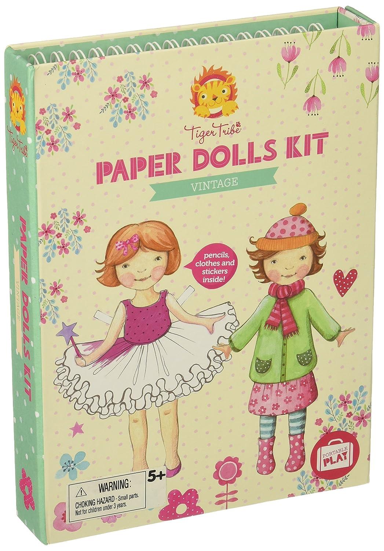 Vintage Arts and Crafts Schylling 60220 Tiger Tribe Paper Dolls Kit