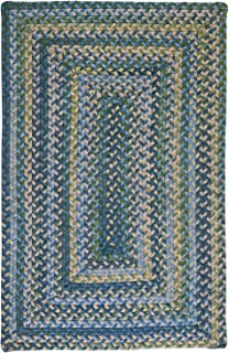 product image for Ridgevale Square Braided Rug, 4-Feet, Whipple Blue