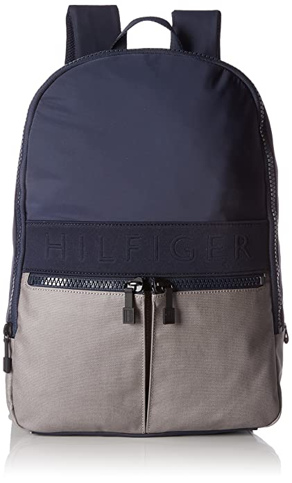 Tommy Hilfiger - Two Tone Backpack, Mochilas Hombre, Blau (Navy/frost Grey