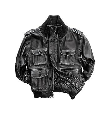 Amazon Com Tanners Avenue Big Kids Genuine Lambskin Leather Bomber