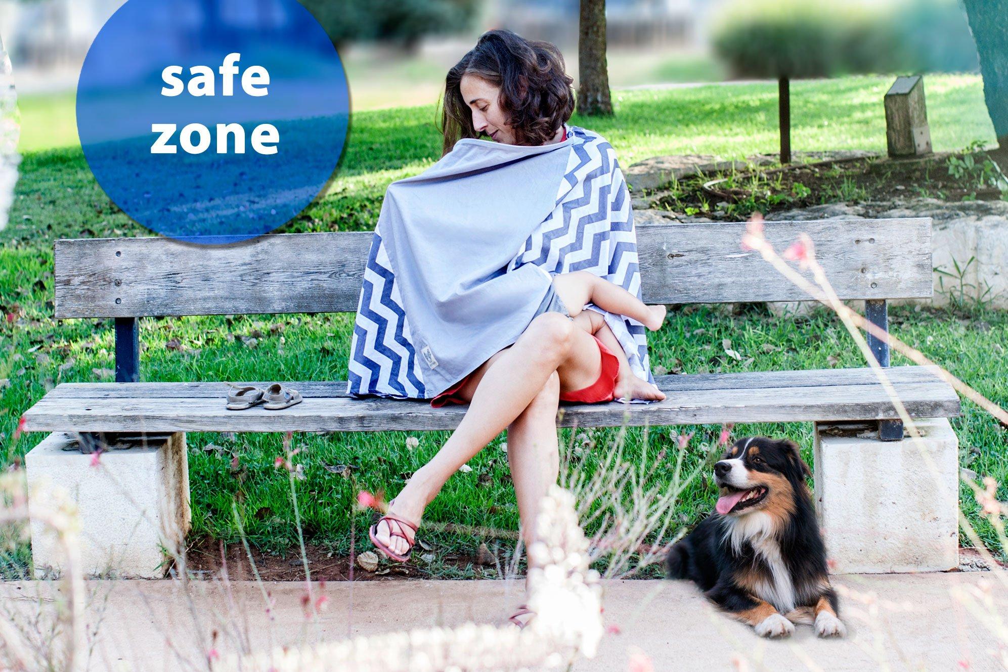 Fair-e-Trade Poncho Rigid Neckline Nursing Cover, 100% Premium Breathable Cotton by Fair-e-Trade (Image #8)