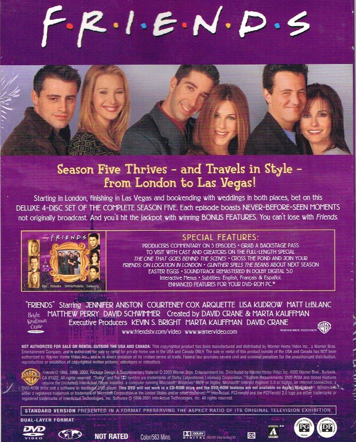 Amazon com: Friends Season 5 The Complete Fifth Season Now