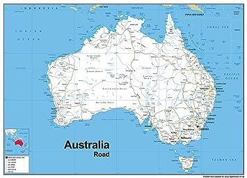 australia road map vinyl 130 x 180 cm