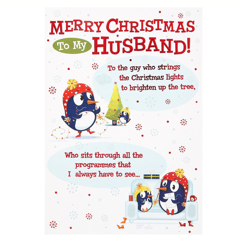 Hallmark christmas card to husband the guy who medium amazon hallmark christmas card to husband the guy who medium amazon office products m4hsunfo