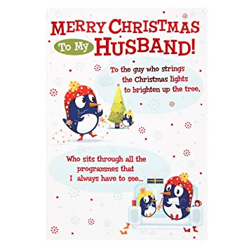 Husband Christmas Cards.Hallmark Christmas Card To Husband The Guy Who Medium