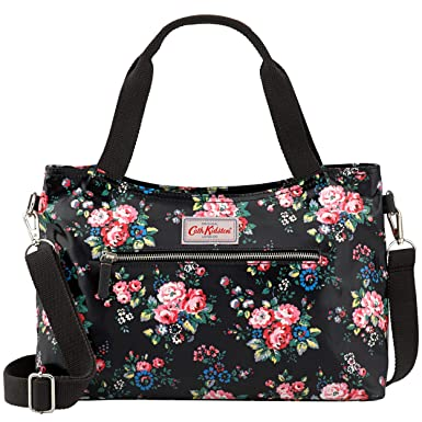 864ff5fb6d Cath Kidston New Spray Flowers Zipped Handbag With Detachable Strap In  Black  Amazon.co.uk  Shoes   Bags
