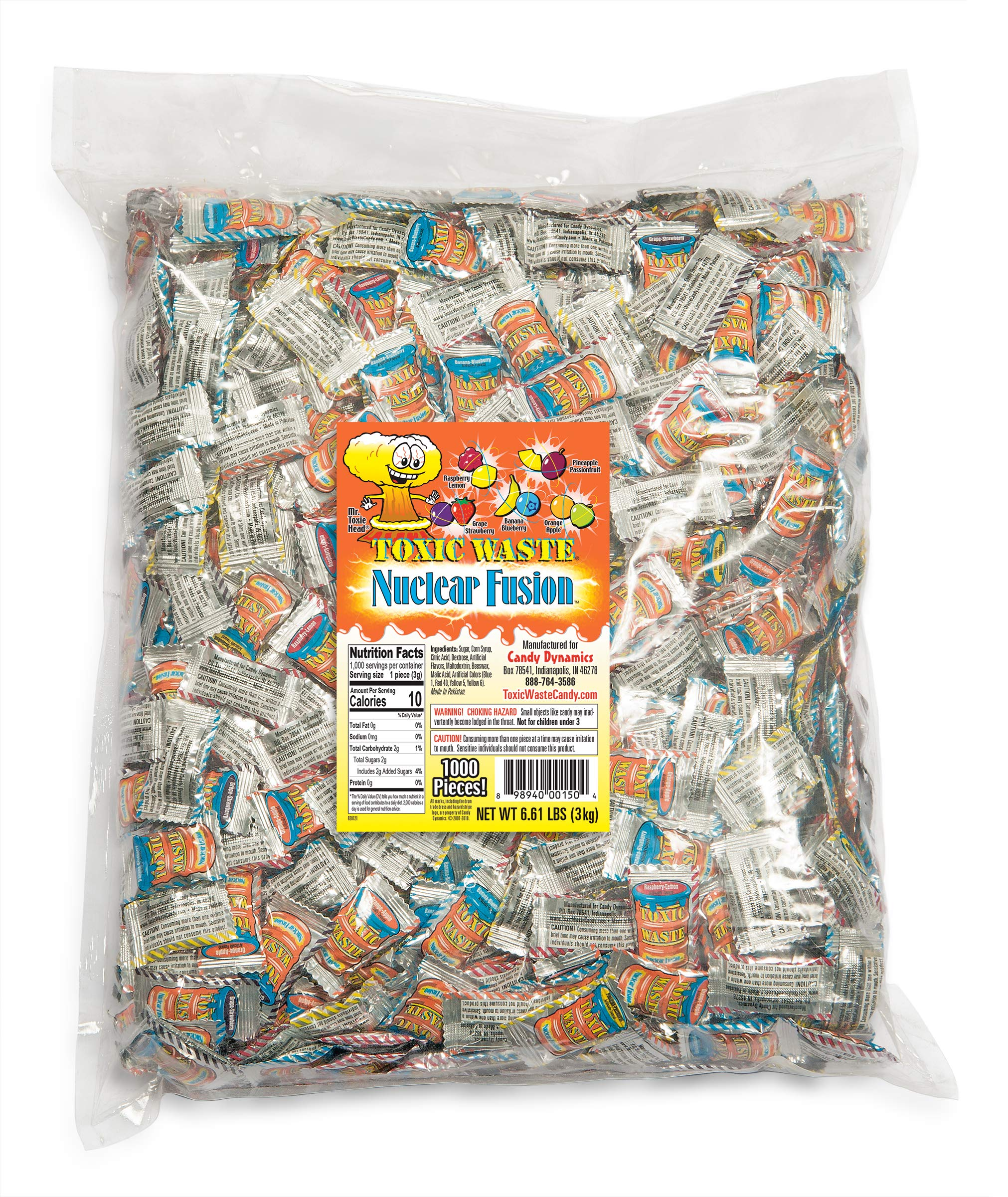 TOXIC WASTE Nuclear Fusion Bulk Poly Bag, 8.0 Pound by TOXIC WASTE (Image #1)
