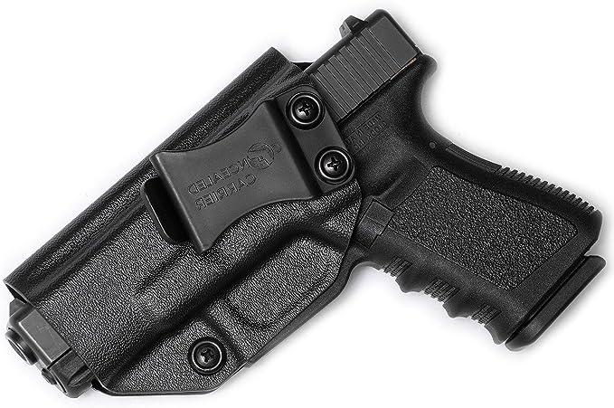 Black Leather Inside Waistband IWB Holster For Glock 17 19 22 23 24 31 32 34 38
