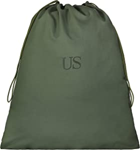 USGI US Military Barracks Cotton Canvas Laundry Bag, Olive Green 3Pack