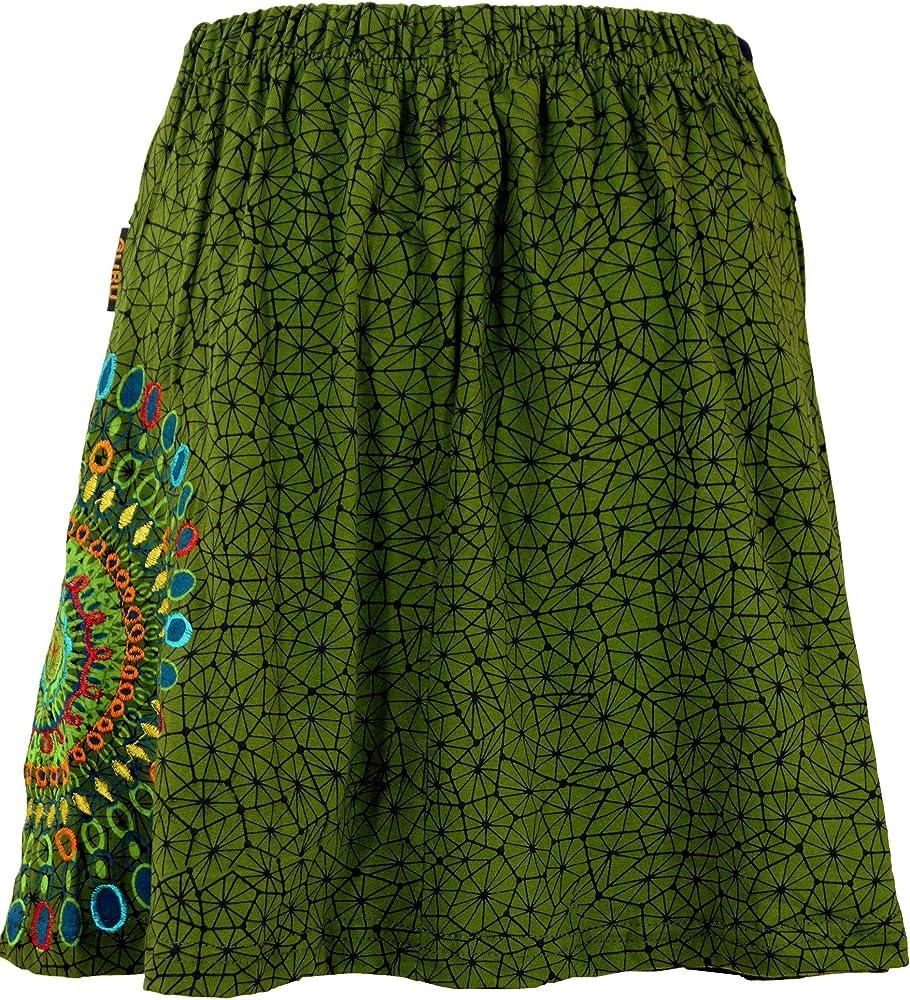 GURU-SHOP, Mini Falda, Falda de Verano, Falda Hippie, Falda Goa ...