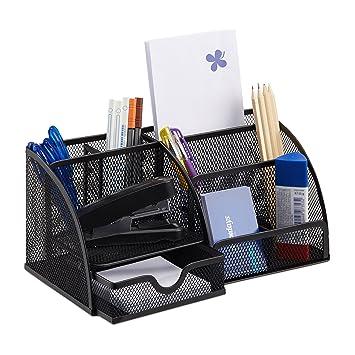 Relaxdays Schreibtischorganizer 6 Ablagen Kompakter Buroorganizer