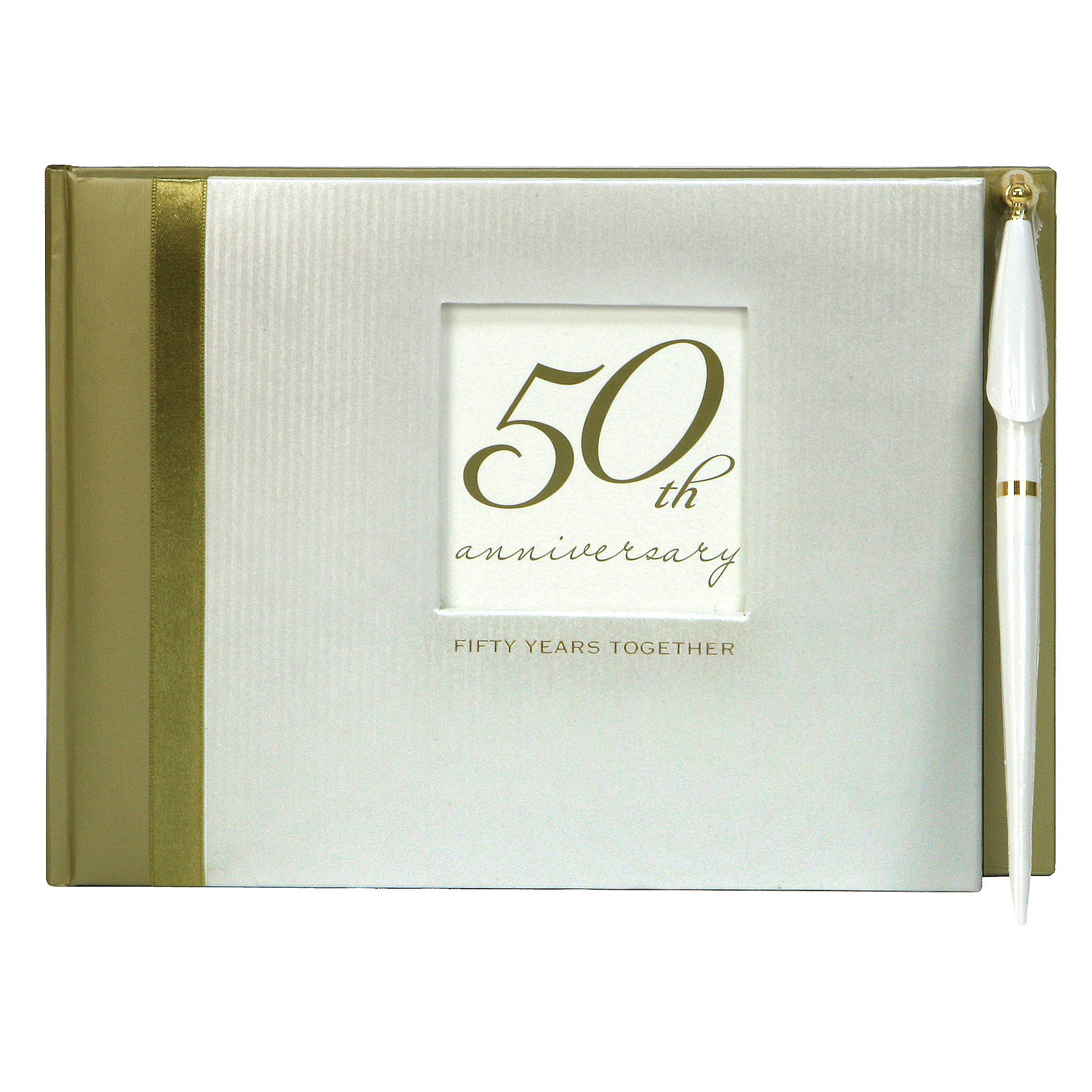 C.R. Gibson 50th Anniversary Party Guest Book with Pen, 7'' x 9.75'' by C.R. Gibson