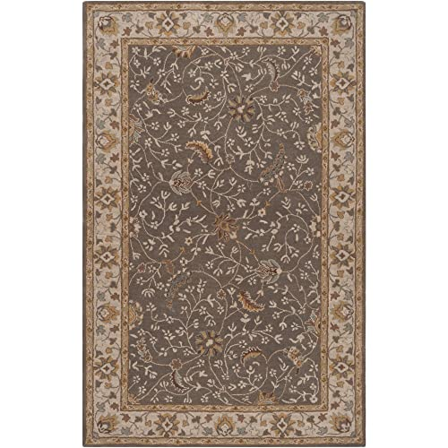 Safavieh Classic Vintage Collection CLV223A Black and Silver Area Rug 5 x 8