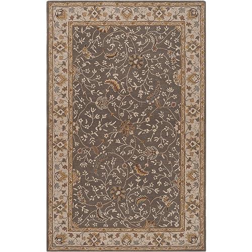 Surya Caesar CAE-1093 Classic Hand Tufted 100 Wool Cumin 6 x 9 Traditional Area Rug