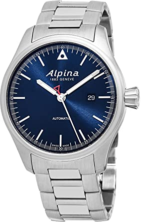 Alpina Startimer Pilot Automatic Date 44mm Navy Blue Face Swiss Alpina Watch Men - Limited Edition
