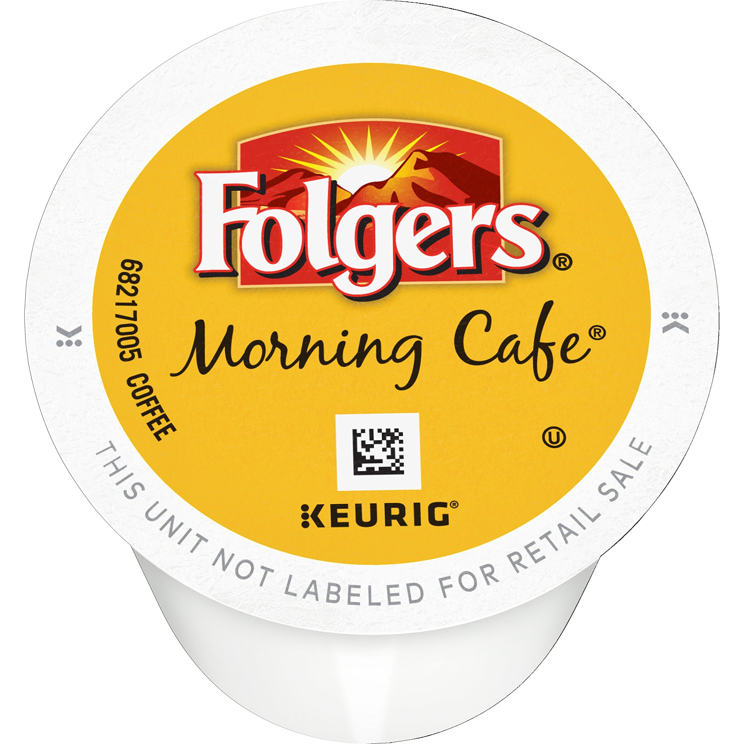 Folgers Morning Cafe, Mild Roast Coffee, K-Cup Pods for Keurig K-Cup Brewers, 144 Count