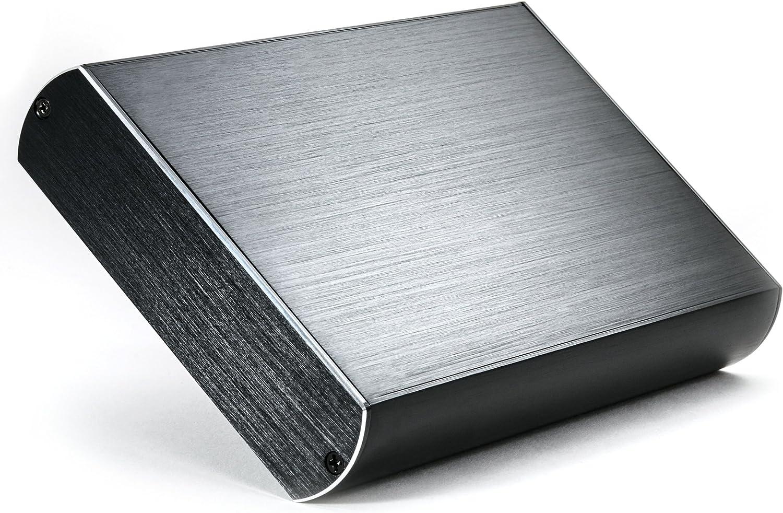 CSL - Carcasa de Aluminio USB 3.0 Super Speed para Disco Duro HDD de 3,5 Pulgadas SATA I II III - Aspecto Aluminio Cepillado- Compatible con USB 2.0 - Externa - Negro