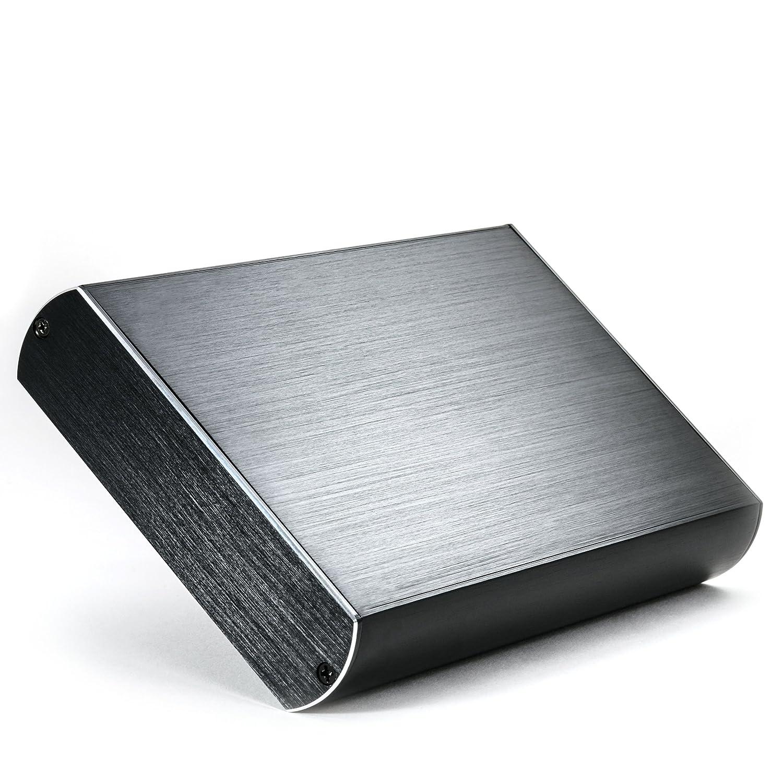 CSL - Carcasa de aluminio USB 3.0 (Super Speed) para disco duro HDD de 3, 5' SATA I/II / III | aspecto aluminio cepillado| compatible con USB 2.0 | externa | negro 5 SATA I/II / III | aspecto aluminio cepillado| compatible con USB 2.0 | externa | negro