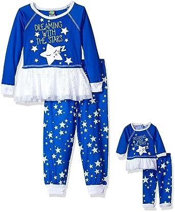 Amazon.com  Dollie   Me Girls  Tutu Snugfit Sleepwear Set  Clothing 723056df3