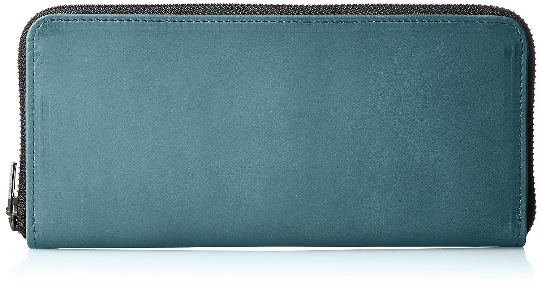 [ヴィンテージリバイバルプロダクションズ] 財布 roundzip slim oil leather 日本製 59230 B01M4L4YGQブルー