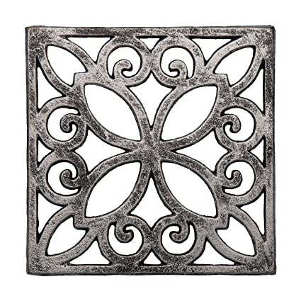 amazon com comfify decorative cast iron trivet for kitchen or