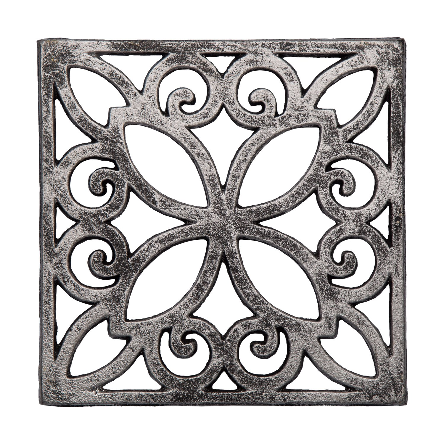 """Decorative Cast Iron Trivet For Kitchen Or Dining Table 