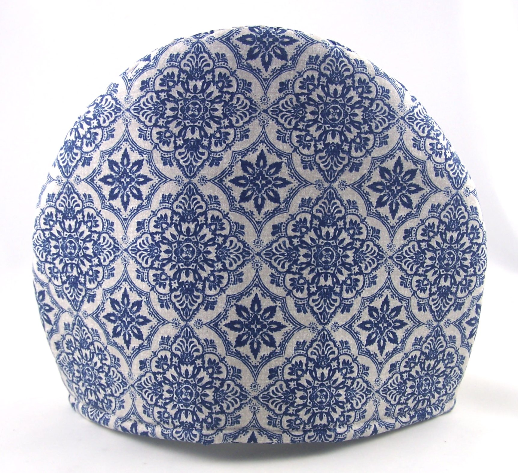 Handmade Fabric Tea Cozy - Lined and Padded Cosy - Blue and Antique White French Toile Print