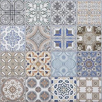 Carrelages oriental grés fin porcelanisé Habib 44,1 x 44,1 ...