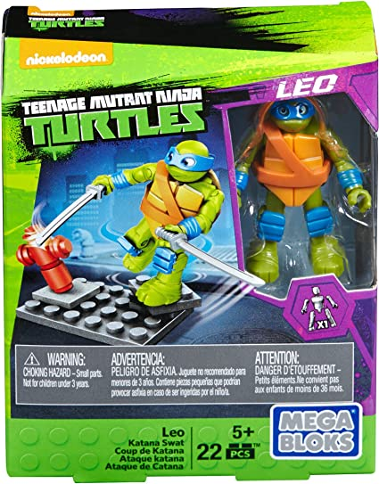 Amazon.com: Mega Bloks teenange Mutant Ninja Turtles Leo ...