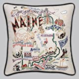 Maine State Pillow by Catstudio
