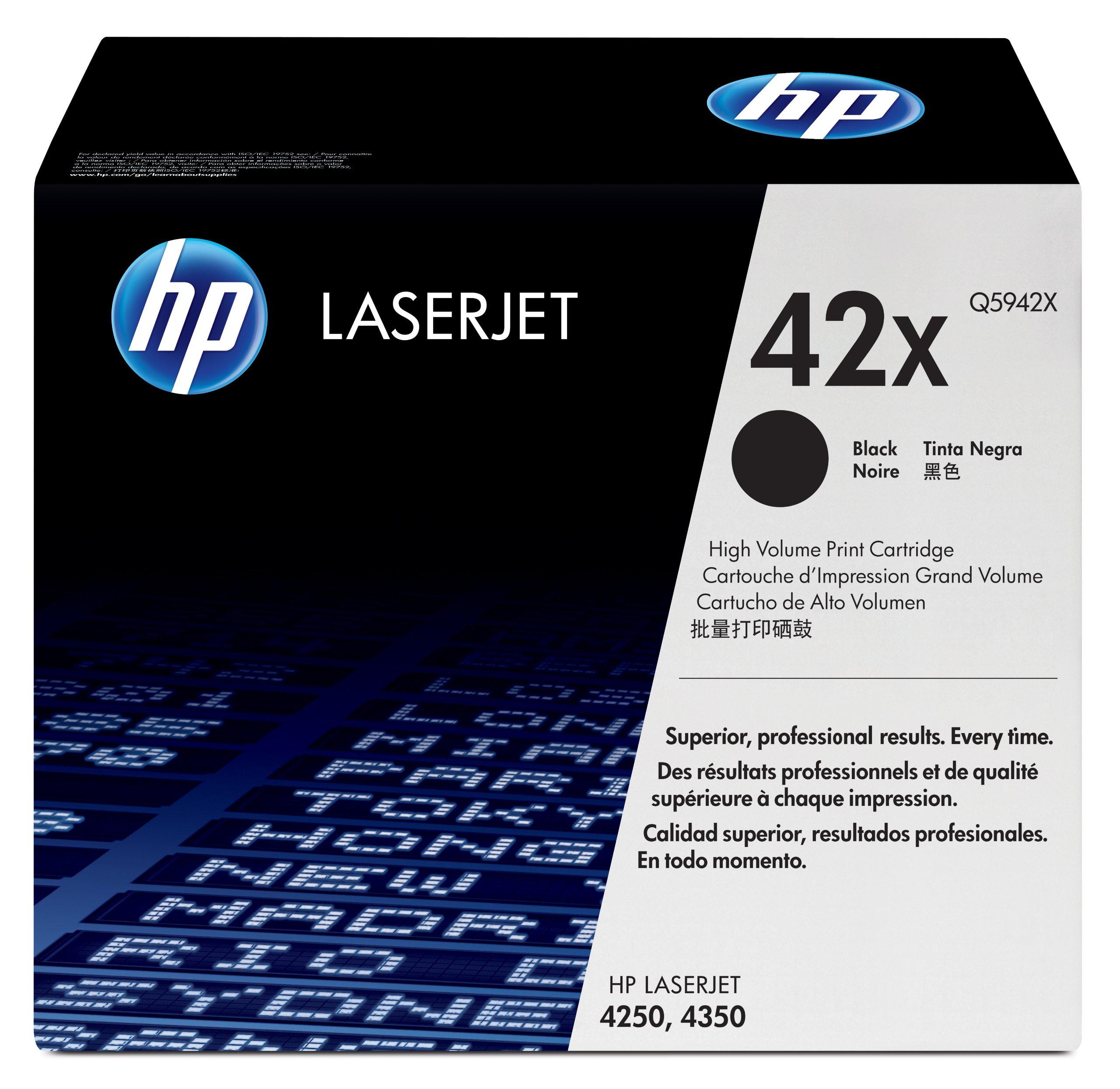 Toner Original HP 42X Q5942X Black Alta Capacidad