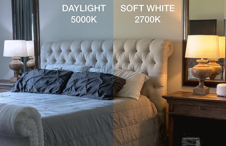 12 Pack 8.5W A19 60W Equivalent LED Light Bulb Daylight ...