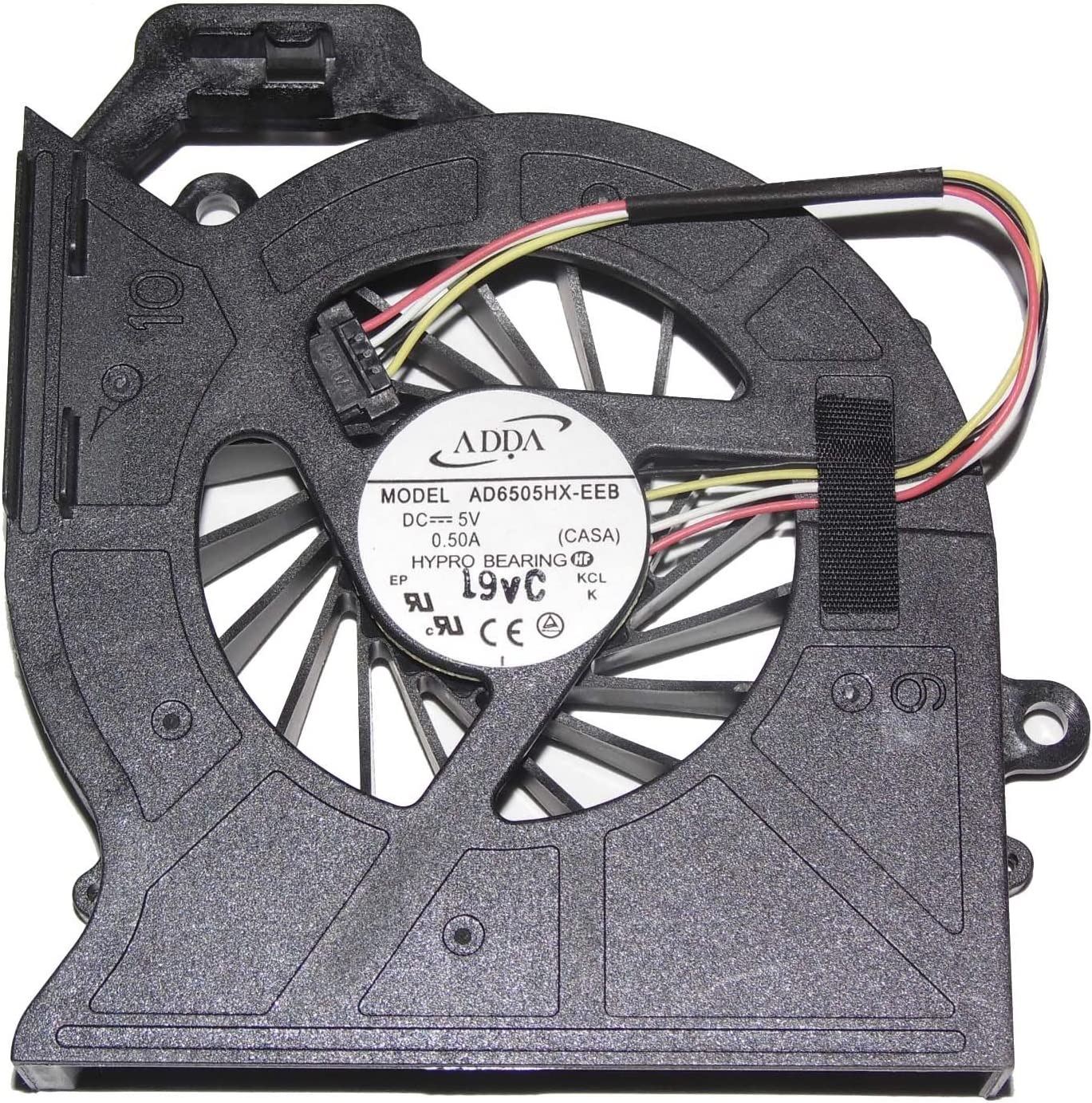 ADDA AD6505HX-EEB 5V 0.5A 4Wire For HP Pavilion DV6 DV6-6000 DV6-6029 DV6-6050 DV6-6090 DV6-6100 DV7 DV7-6000 650797-001 CPU Fan