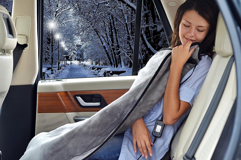 Sojoy Manta eléctrica de Viaje calefactada de 12V con Temporizador de 45 para embarcaciones de Camiones o vehículos recreativos (Gris): Amazon.es: Coche y moto