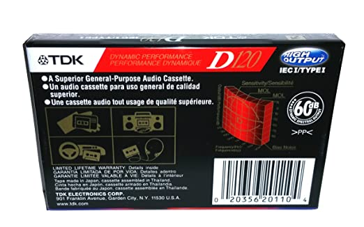 Amazon.com: TDK Dynamic Performance D120 High Output IEC I / Type I - 5 Pack Audio Cassette Tapes: Home Audio & Theater