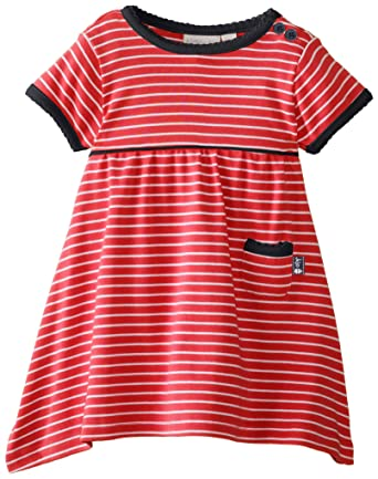 Girls' Clothing (0-24 Months) Jojo Maman Bebe Pink Stripe Jersey Dress 6-12 Months