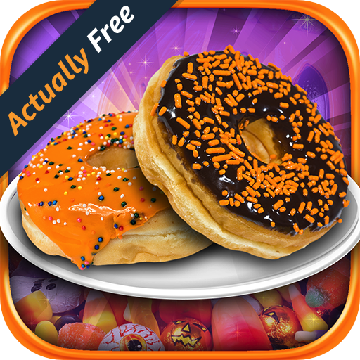 Halloween Cupcakes Cooking Games (Halloween Donut Make & Bake – Kids Candy Dessert Kitchen Cooking Food Maker FREE Game)