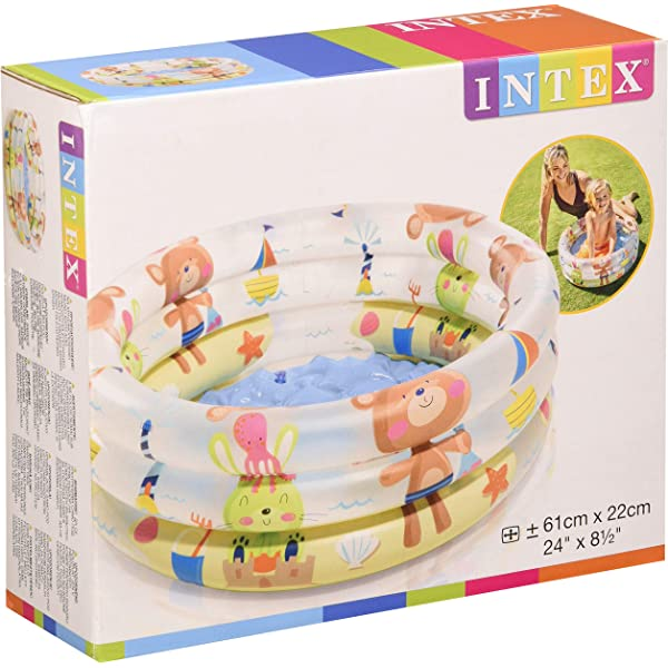 Intex 57482NP - Piscina hinchable My Sea Friends 163 x 107 x 46 cm ...