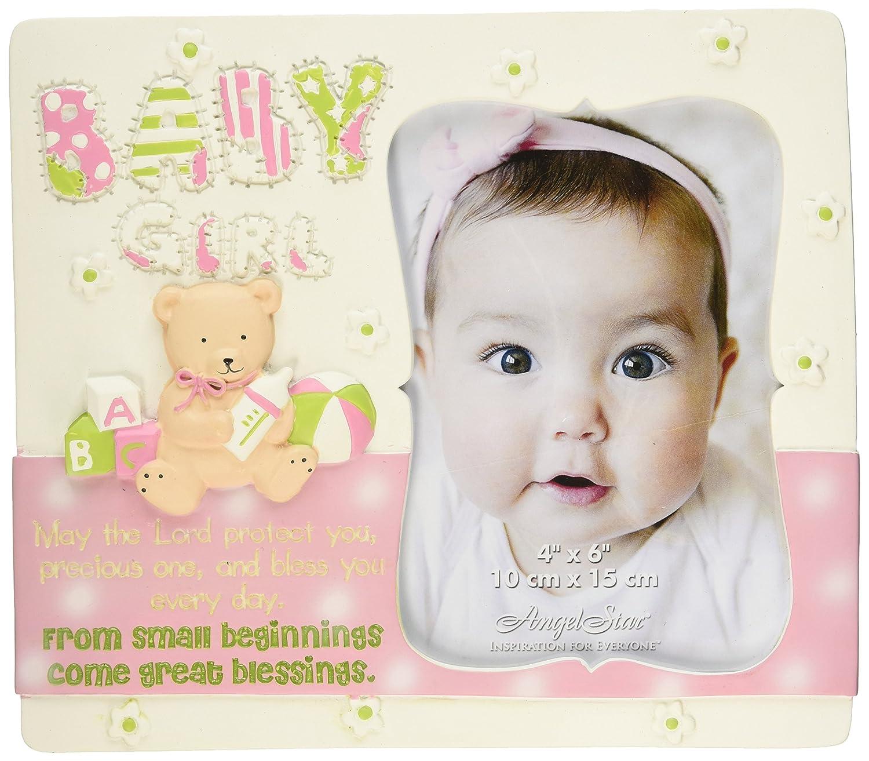 AngelStar 13326 Baby Girl Photo Frame 7-3//4 by 6-3//4-Inch