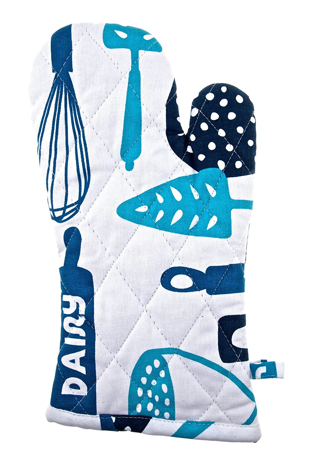 """Pot Holder Glove 100/% Cotton Hanging Loop for Easy Storage Dairy Blue Oven Mitt Color Coded Kitchen Tools by The Kosher Cook 13/"""" x 6/"""""""