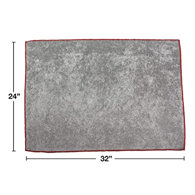 """Detailer's Preference Heavy Duty Super Soft and Absorbent Big Pearl Giant Microfiber Towel 24"""" x 32"""" 430gsm Gray: Automotive"""