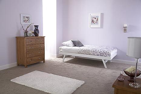Madrid Conjunto de sofá cama y cama nido, roble o blanco ...