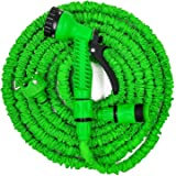 cleaning gutter with garden hose